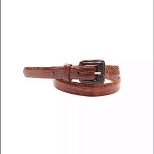 Polo Ralph Lauren Genuine Lizard Skinny Belt
